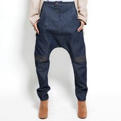 Detailed Drop Crotch Pant