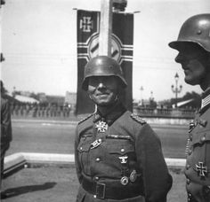 Erwin Rommel at Paris Victory Parade by  Unknown Artist