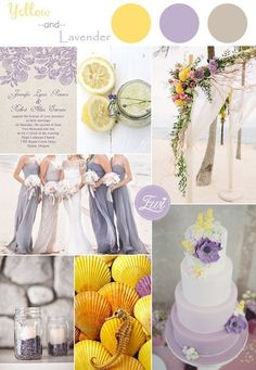 yellow and lavender wedding color ideas and wedding invitations for summer 2015