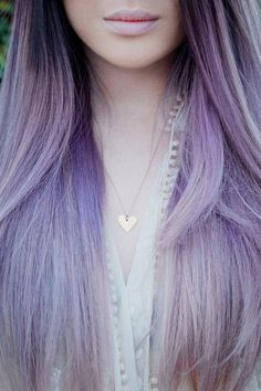 Silvery lavender ombre-by my hair master- Christina Perez :D