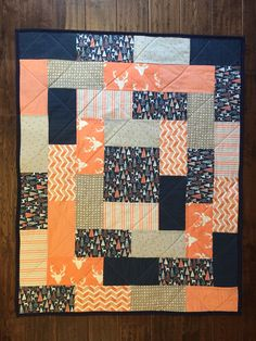 This particular charm pack quilts is an obviously inspiring and top notch idea Quilt Baby, Baby Girl Quilts, Girls Quilts, Rag Quilt, Patchwork Quilting, Scrappy Quilts, Easy Quilts, Halloween Quilts, Strip Quilts
