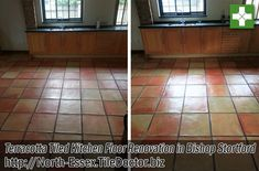 We had a request to visit a beautiful Barn conversion on the Essex side of the market town of Bishop Stortford, the lady of the house was concerned about her Terracotta tiled Kitchen Floor which was dirty and had become difficult to maintain.