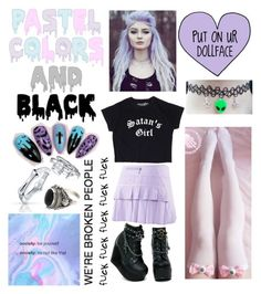 """Pastel Goth"" by kitcat01 ❤ liked on Polyvore featuring NIKE, Bling Jewelry and NOVICA"