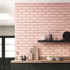 Spruce up your kitchen with pink brick walls! These brick walls are simple, yet gives your walls a whole new personality! Try this out in your HDBs now!