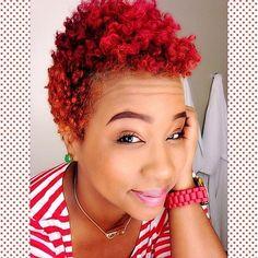 Black Girls with Red Hair. Curly Hair Styles, Natural Hair Styles, Short Sassy Hair, Hair Flow, Be Natural, Natural Life, Natural Hair Inspiration, Crazy Hair, Cute Hairstyles