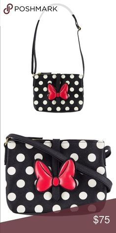 Disney Parks Minnie Bow Polka Dot Crossbody Bag New with tags. 9 inchesx 20 inches (counting strap) Disney Bags Crossbody Bags