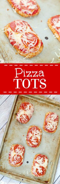 Pizza Tots Recipe  Pizza-topped hash browns! What could be better?! A yummy, quick and easy appetizer and snack idea for kids or adults.