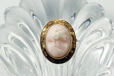 Antique Cameo Cameo Jewelry Cameo Brooch 14K Yellow Gold