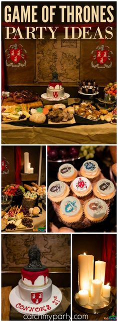Here's an awesome Game of Thrones party with a banquet table set for a King! See more party ideas at Catchmyparty.com!