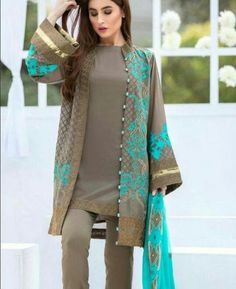 SOBIA NAZIRLight Party Wear And Formal Wear at Retail and whole sale prices at Pakistan's Biggest Replica Online Store Stylish Dresses For Girls, Best Casual Dresses, Simple Dresses, Stylish Dress Book, Beautiful Dresses, Simple Pakistani Dresses, Pakistani Dress Design, Indian Dresses, Frock Fashion