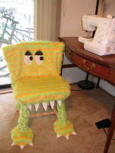 monster chair - would be cute for time outs!