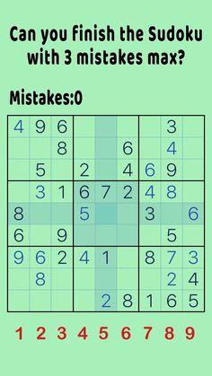 Can you finish this Sudoku? Brain Games, Math Games, Math Activities, Mind Puzzles, Sudoku Puzzles, English Worksheets For Kids, Kids Math Worksheets, Number Worksheets, Alphabet Worksheets