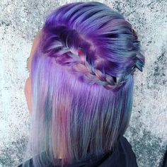 Blue and Purple Short Hair