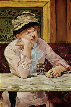 E. Manet - The Plum  Date 	circa 1878  Medium 	oil on canvas  National Gallery of Art, Washington DC