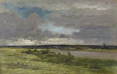"""Charles François Daubigny: """"The Coming Storm""""; """"Early Spring"""" ca. 1865-1875 oil on panel The Walters Art Museum"""
