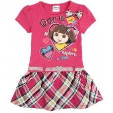 Dora girl Dress Children's Clothing NOVA Fashion Kid Clothing Summer dress for Girls Toddler Princess Dress girl (Mainland)) Dresses Kids Girl, Kids Outfits Girls, Girls Party Dress, Boy Outfits, Dress Party, Baby Dresses, Cotton Dresses, Party Wear, Girls Sweater Dress