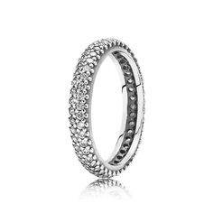 Inspiration Within Stackable Ring - Sterling Silver with Clear CZ - PANDORA - 190909CZ