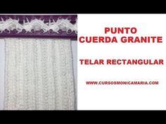 PUNTO CUERDA GRANITE TELAR RECTANGULAR //Tutorial completo con inicio y ...