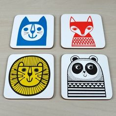 This playful set of Four Coasters designed by British designer Jane Foster…