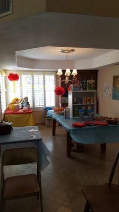 Food area Dr seuss baby shower