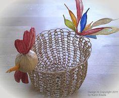 Paper Twine Autumnal Home Decor by Paper Yarn Studio Wicker Baskets, Twine, Decorative Bowls, Planter Pots, Create, Paper, Home Decor, Craft Ideas, Chicken