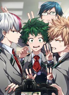 Midoriya,Bakugo,Shoto y Lida