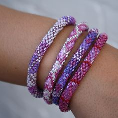 Lily and Laura Bracelets- Lavenders | james & leigh