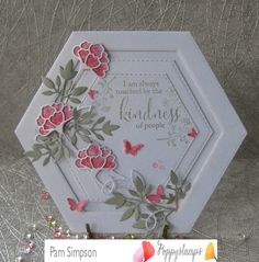 Memory Box/Poppy Dies Creative Fans has 638 members. Welcome Memory Box/Poppy dies Creative Fans a group of Crafter's who love Memory Box/Poppy dies. Card Making Inspiration, Making Ideas, Pinterest Cards, Hexagon Cards, Memory Box Cards, Pink Cards, Shaped Cards, Fancy Fold Cards, Easel Cards