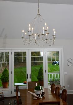 French Country Bell style chandelier w/ LED bulbs Candle Chandelier, Chandeliers, French Country, Bulbs, Ceiling Lights, Candles, Led, Steel, Studio