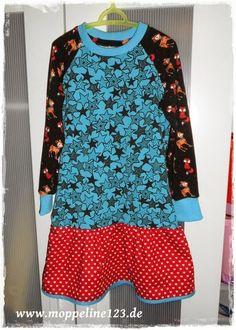 Fuchsiges Stern Shirt Kleid in Gr. 110/116