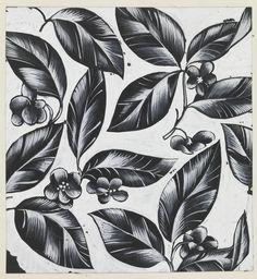 Drawing, Oak Leaf Pattern, Textile Design, 1950–1970 | Designer:  Tommi Parzinger | Cooper-Hewitt