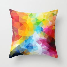 Art Pillow Triangles Polygon Abstract Throw Pillow by NikaLim, ₪110.00