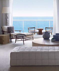 1 sobe miami high rise homes design by Debora Aguiar natural refined neutral living room balcony