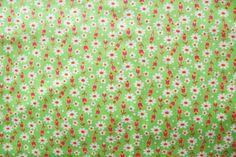 Зелёные цветы ткань