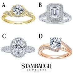 #WeddingWednesday is back!  Which of these engagement rings do you like best?