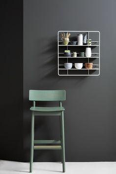 The Woud Pause Counter Stool is a great way to add some green, Danish design to your home http://www.utilitydesign.co.uk/woud-pause-counter-chair