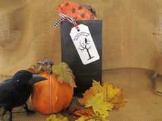Stationery  Halloween  Handmade Gift Tags  Owl  by PaperVelvetWood