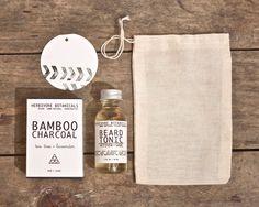 Mens Valentine Gift Set. 100% Natural. Charcoal Soap. Beard Tonic. Gift Bag. Hand stamped Gift Tag.. $21.00, via Etsy.