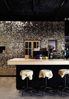 cocina amarilla pared verde rustico - Buscar con Google