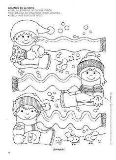 Crafts,Actvities and Worksheets for Preschool,Toddler and Kindergarten.Lots of worksheets and coloring pages. Creative Activities, Winter Activities, Preschool Activities, Tracing Worksheets, Worksheets For Kids, Preschool Christmas, Winter Kids, Winter Theme, In Kindergarten
