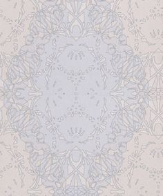 Zircon (317060) - Eijffinger Wallpapers - An intricate geometric, symmetrical snowflake all over pattern – shown in cream and silver grey. Paste the wall. Please request a sample for true colour match.