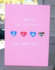 I heart you more- Valentine's Day Card. $4.00, via Etsy.