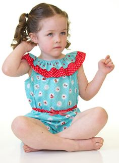 Riley Blake Designs - Little Red Riding Hood fabric by Tasha Noel.  Pattern by Create Kids Couture