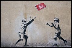 Banksy wallpaper would be cool, I was thinking and then I found this.