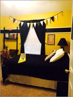 Harry Potter Hufflepuff bedroom - Ma Home Design Décoration Harry Potter, Harry Potter Bedroom, Harry Potter Tumblr, Harry Potter Houses, Hufflepuff Bedroom, Hufflepuff Common Room, Hufflepuff Pride, Harry Potter Lufa Lufa, Hogwarts