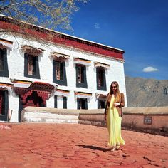 Luiza Zadros -my daughter.....A pic from our recent visit to Tibet, as we were exploring the Potala Palace (in Lhasa)