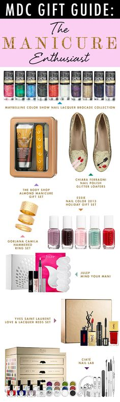Here is the perfect gift for your mani-loving friends! Loads of glitter, nail art kits galore and sets that take all the guesswork out of selecting the perfect shade. We won't judge you if one of these picks ends up in your impeccably polished hands.