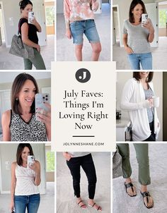 Fashion expert Jo-Lynne Shane shares the fashion and accessory items she's been loving this month. Check out the post to see what her favorite wardrobe items are. Night Looks, Im In Love, Spring Summer Fashion, Spring Outfits, Fashion For Women Over 40, T Shirts For Women, What I Wore, French Terry, How To Fall Asleep