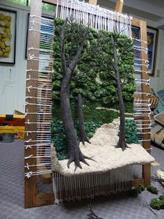 Dimensional Weaving - Martina Celerin fiber art: May not macramé this is absolutely lovely weaving, can't pass it up
