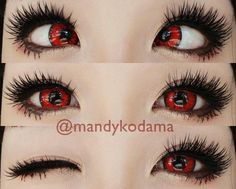 Sweety Candy red are scintillating & intense opaque lenses. Perfect for cosplay, photoshoot & fancy dress show. The lenses stay vibrant & comfortable! Cosplay Contacts, Halloween Contacts, Cosplay Makeup, Gyaru Makeup, Anime Makeup, Kawaii Makeup, Edgy Makeup, Red Eyes Contacts, Amor